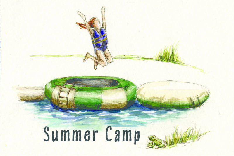 Summer camp with word
