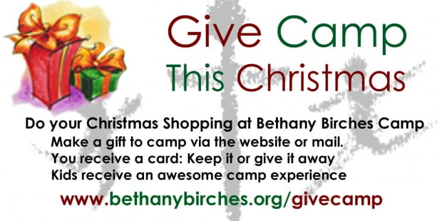 Give Camp This Christmas 2010 Promotional Graphic