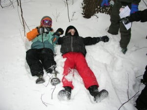 Bobcat Campers enjoying the snow
