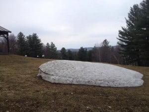 Snow pile April 22
